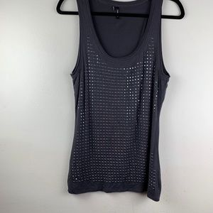 Maurices Black Studded Tank Top L Large